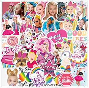 ARPA 50Pcs JoJo Siwa Stickers for Laptops Books Cars Motorcycles Skateboards Bicycles Suitcases Skis Luggage Cup Hydro Flasks etc DXQX