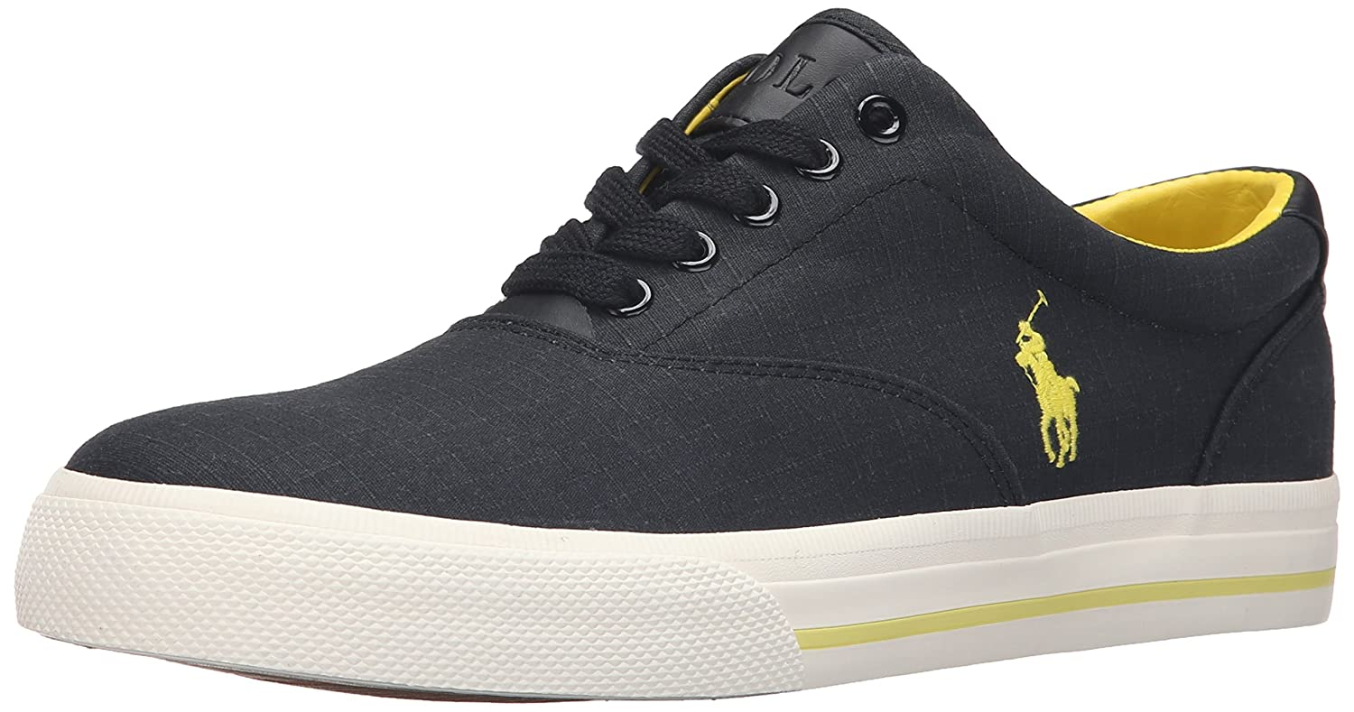 Ralph Lauren Mens Vaughn Matte Ripstop Cotton Trainers