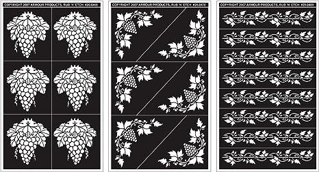 """Rub /'n/' Etch Designer Stencil 5/""""x8/""""-butterflies"""