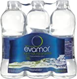 Evamor Natural Alkaline Artesian Water, 32-Ounce Bottles (Pack of 6)