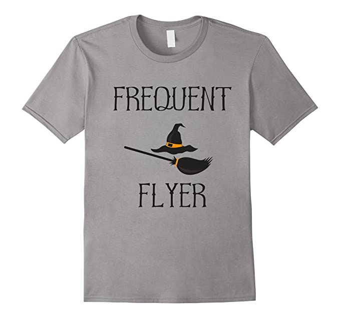 amazon com frequent flyer funny witch halloween costume t shirt