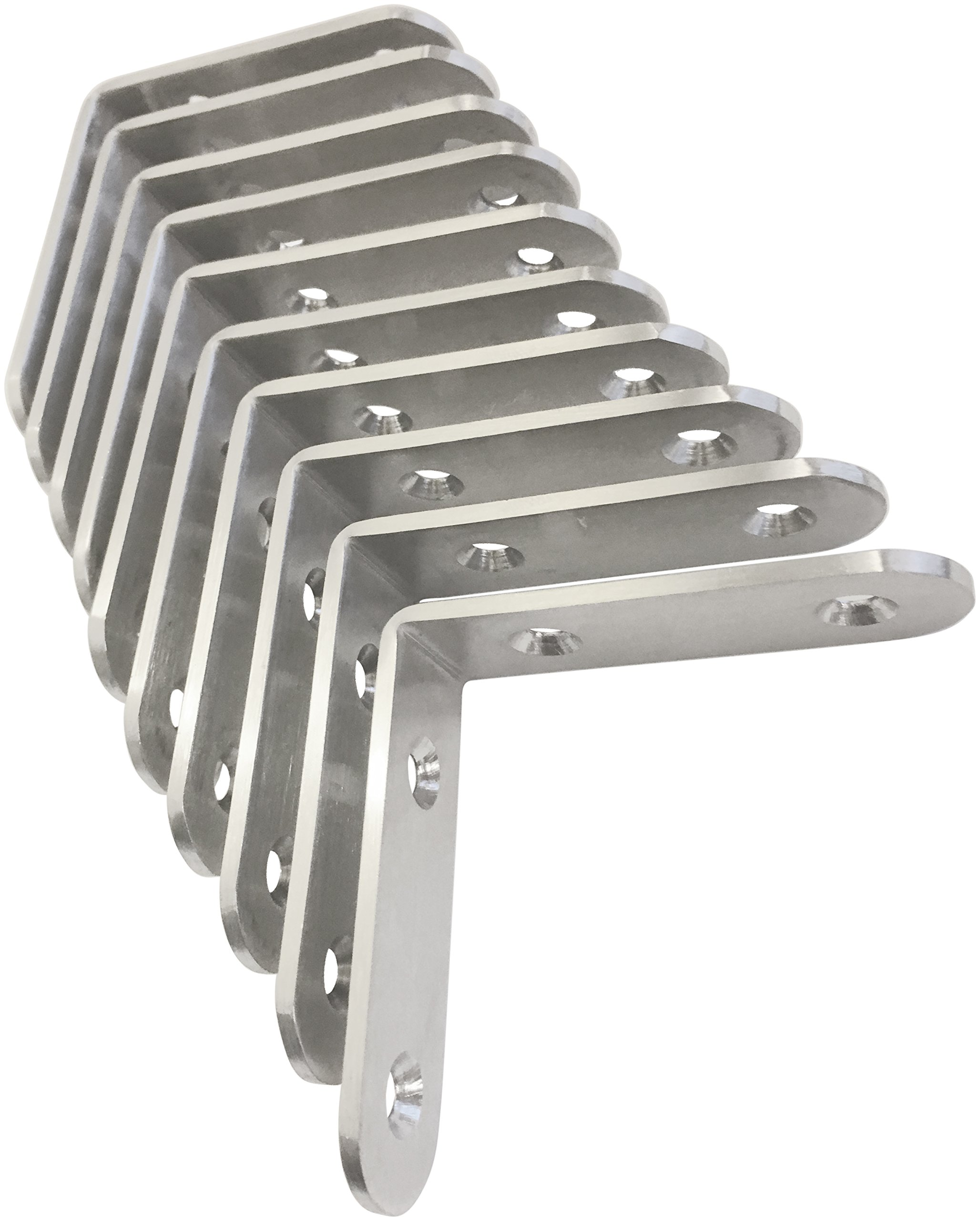 Corner Brace Set (Also know as - Corner Braces, L Bracket, angle Brackets, Right angle bracket, L shaped bracket, angle brace, metal angle brackets, angle brackets, angle support brackets) by TEJATAN
