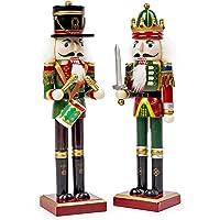 2 Cascanueces Decorativos tradicionales de Navidad - Adornos