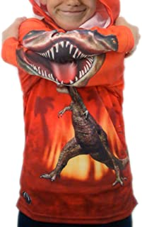 product image for MouthMan Unisex-Child T-Rex Hoodie Shirt