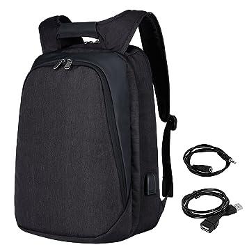 Mochila Hombre para Portátil, Mochila Antirrobo Impermeable,Mochilas para portatil 17.3 Pulgadas con Cargador USB Mochila Viajes para ...