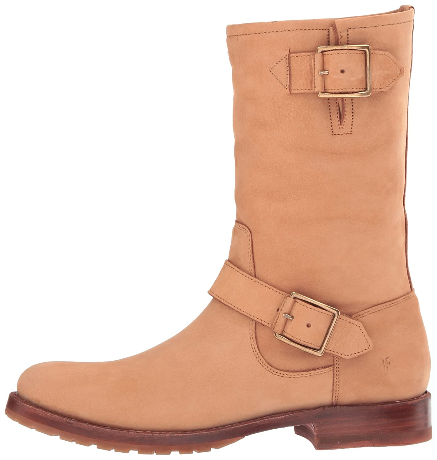 FRYE Women's Natalie Mid Engineer Boot B01H5KGWSG 9 B(M) US|Sand