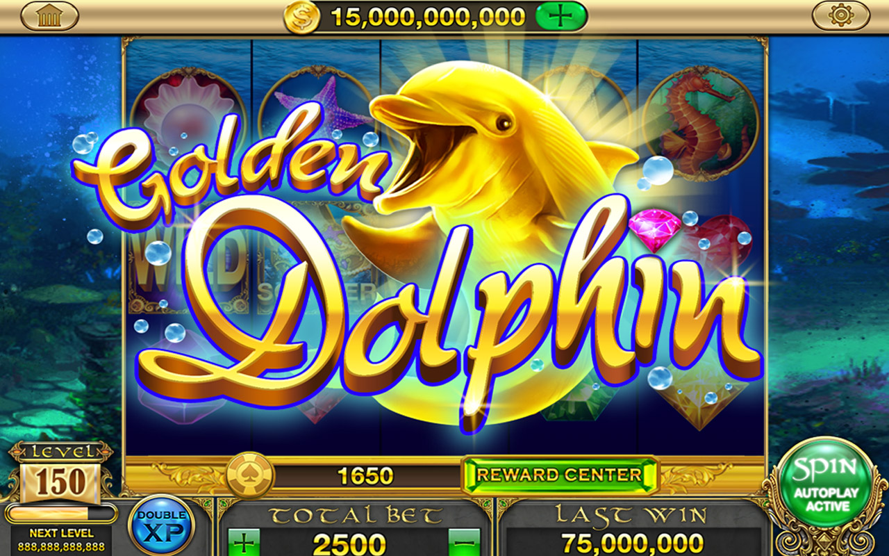Free Gold Dolphin Casino Slots cell phone game