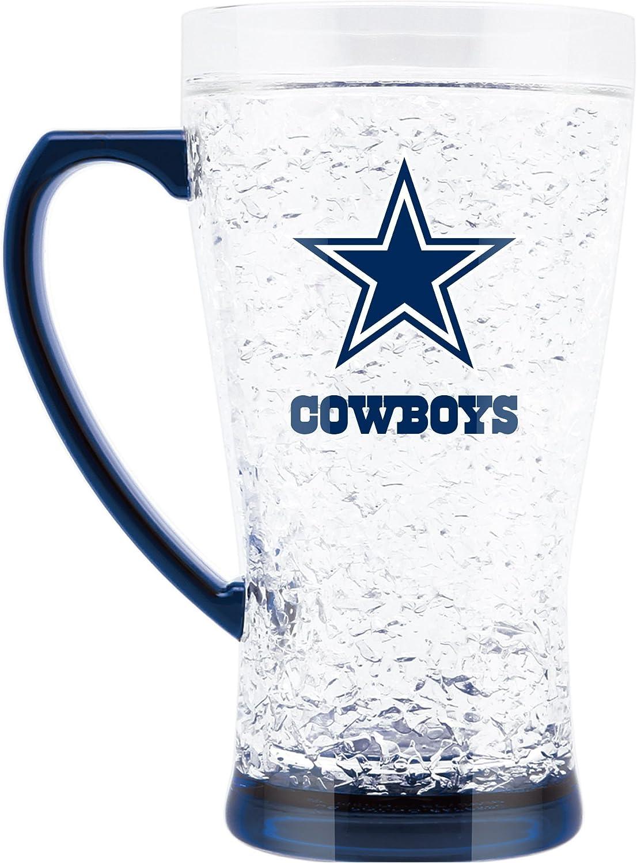 NFL Dallas Cowboys 16oz Crystal Freezer Flared Mug