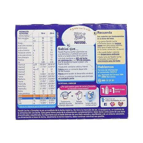 Nestlé Leche y Cereales Pijama Alimento Para bebés - Paquete de 2 ...