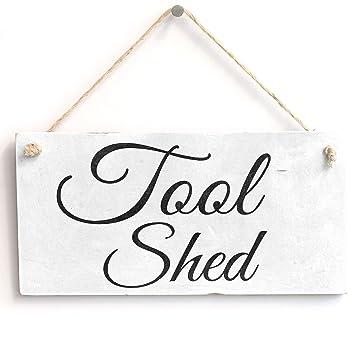 Cobertizo de madera hecho a mano - Shabby Chic/muestra de la placa: Amazon.es: Hogar