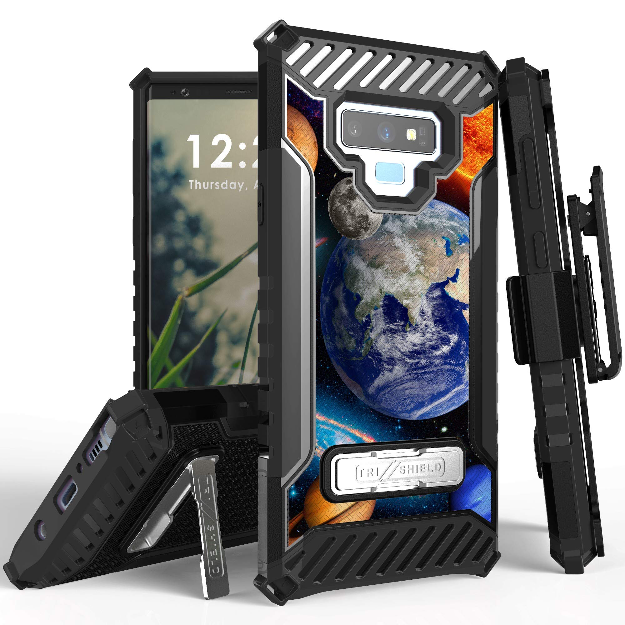 Galaxy Note 9 Case, Trishield Durable Rugged Heavy Duty + [Belt Clip Holster ] and Built in Kickstand for Samsung Galaxy Note 9 2018 - Solar Planet Galaxy
