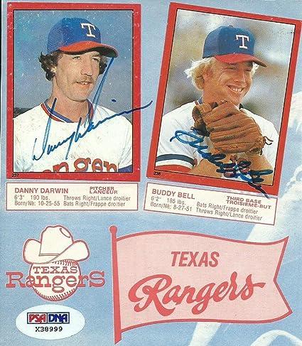 Buddy Bell Danny Darwin Signed 1982 Topps Stickers Baseball