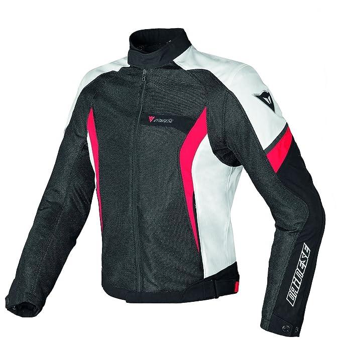 Dainese Air Crono Tex malla chaqueta de Moto Negro/Blanco/Rojo Euro 54/US 44: Amazon.es: Coche y moto