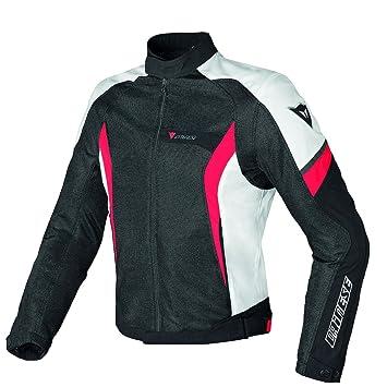 Dainese Air Crono Tex malla chaqueta de Moto Negro/Blanco ...
