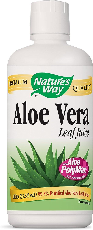 Nature's Way Aloe Vera Whole Leaf Juice, 1 Liter (Pack of 2)