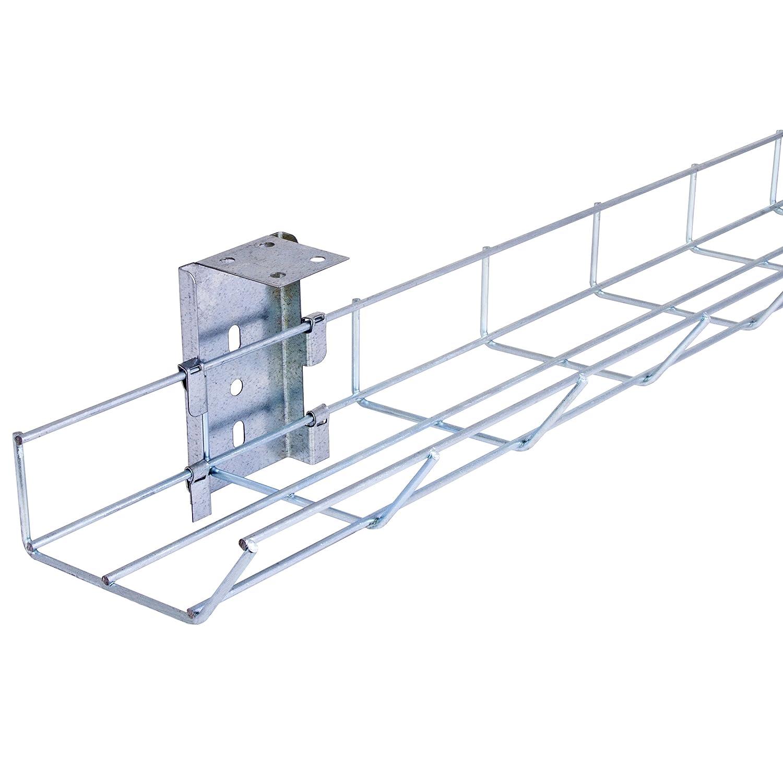 PDU Online 800mm Long Easy Access Under Desk Basket Tray (incl. 2 x brackets) BT800E