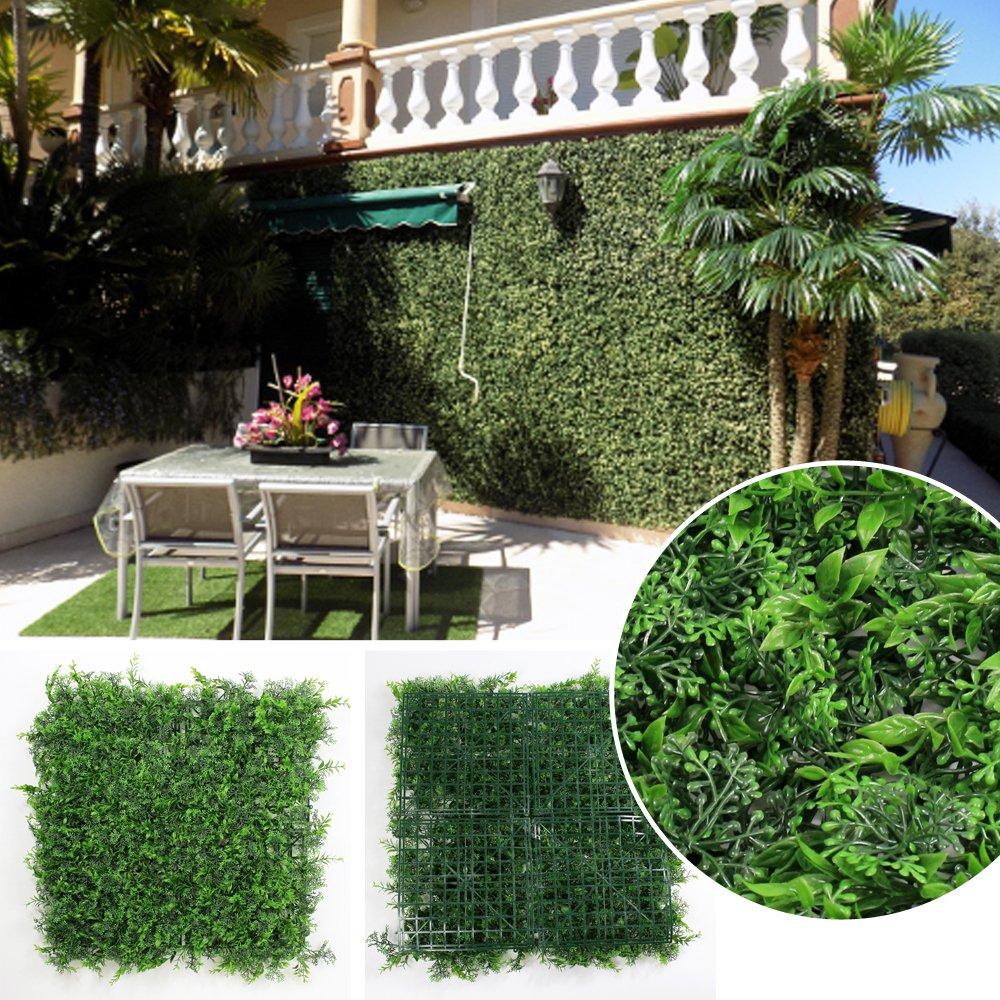 Uland Künstliche Buchsbaum Hecken Platten Kunststoff grün Pflanze