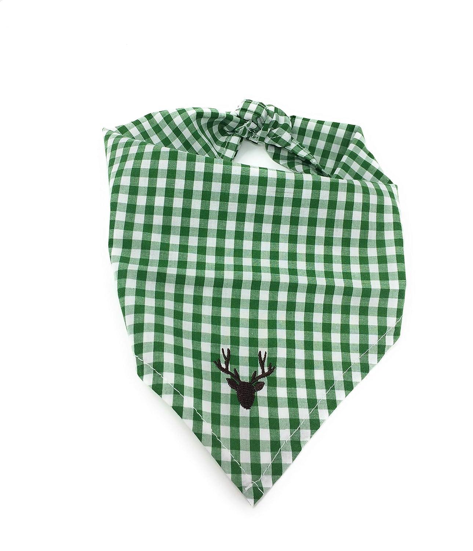 BONDI Baby-Tuch karo grün/weiß BONDI Kidswear