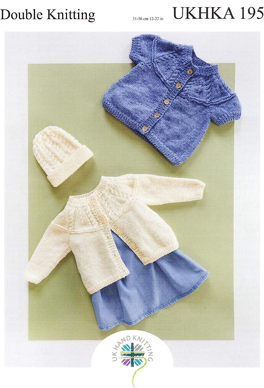 Sweater and Round Neck /& V Neck Cardigan Knitting Pattern DK UKHKA193