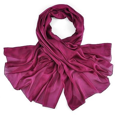 Allée du foulard Etole soie violine  Amazon.fr  Vêtements et accessoires e89e79212d6