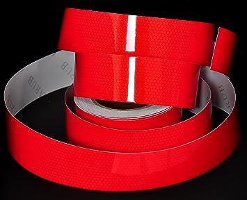 10 Meter Rolle Reflektierende Folie Rot Ra2 Typ 2 Reflexfolie Reflexstreifen Markierungsfolie Baumarkt