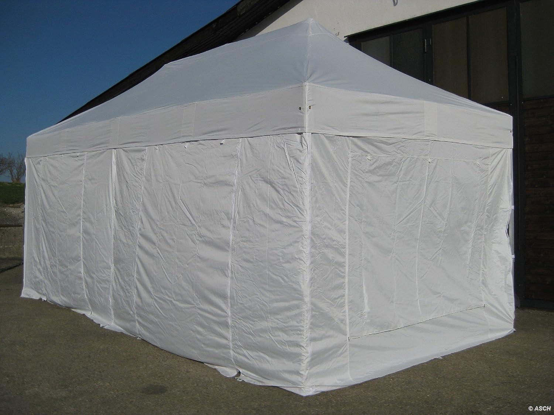 6x3m Profi Faltzelt Marktzelt Marktstand Tent 50mm Hex ALU mit Metallgelenken und FEUERHEMMENDEN PLANEN von AS-S