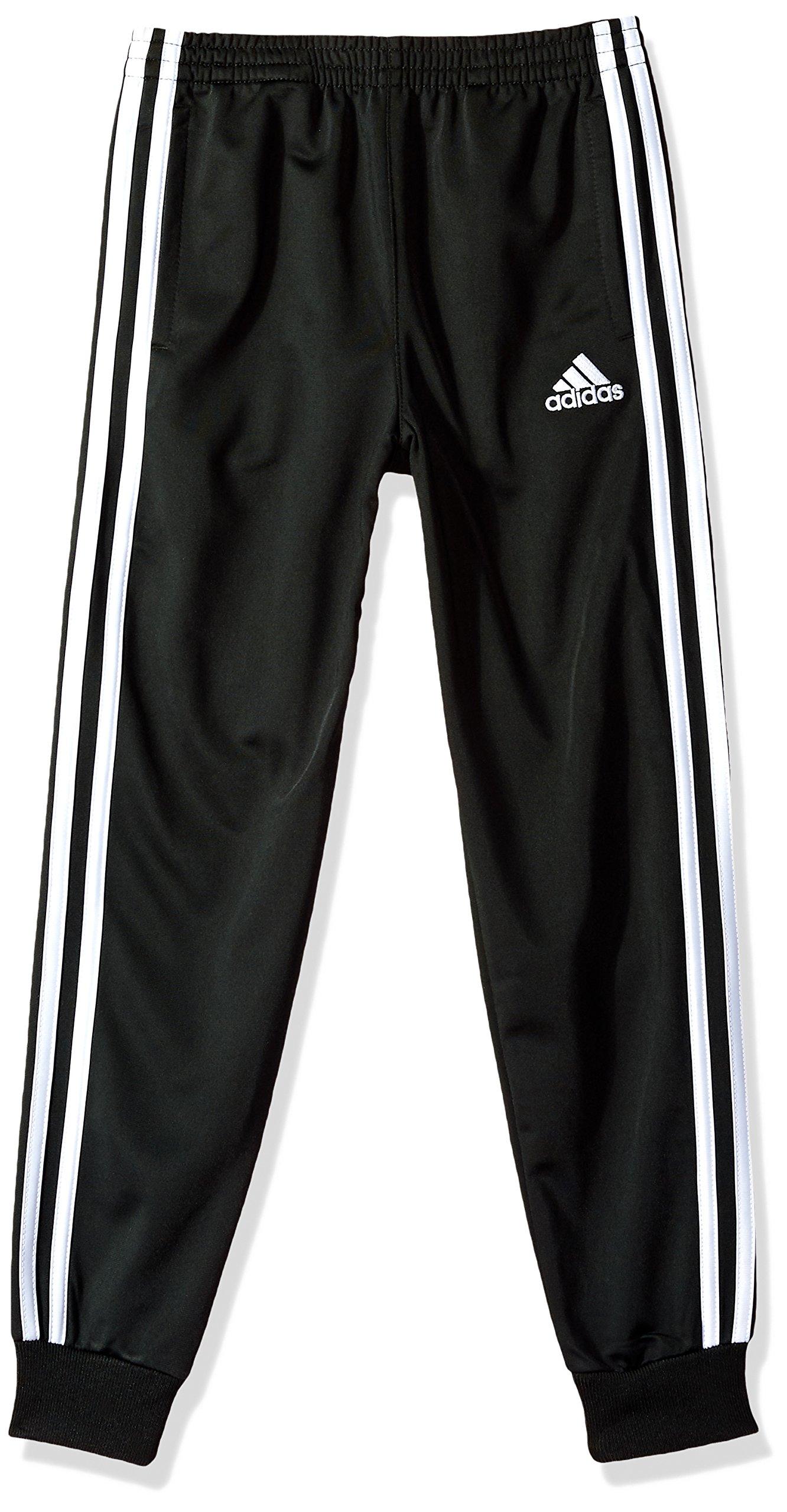 adidas Little Boys' Child Iconic Tricot Jogger, Black Adi, 7X