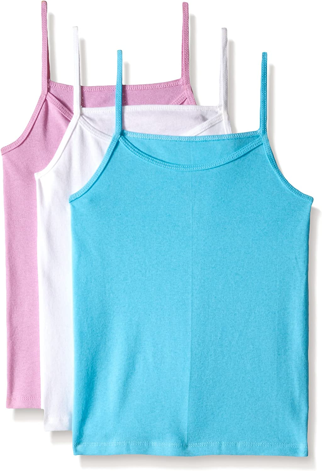 Fruit of the Loom Big Girls White Cami Pack of 3