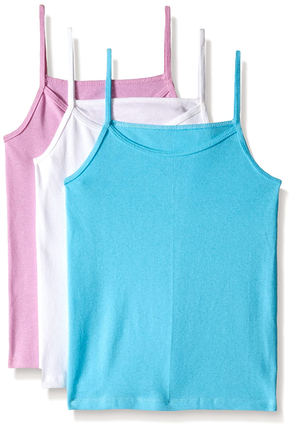 Fruit of the Loom Big Girls' Assorted Cami (Pack of 3) Fruit of the Loom Girls 7-16 3GCAMIA