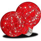 AmeriLuck LED G25 Globe Glass Fairy Light Bulb, Starry Fun Lighting, Festive Ambience Nightlight, Waterproof for Outdoor…