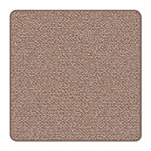 House, Home and More Skid-Resistant Carpet Indoor Area Rug Floor Mat - Praline Brown - 3' X 3' - Many Other Sizes to Choose from