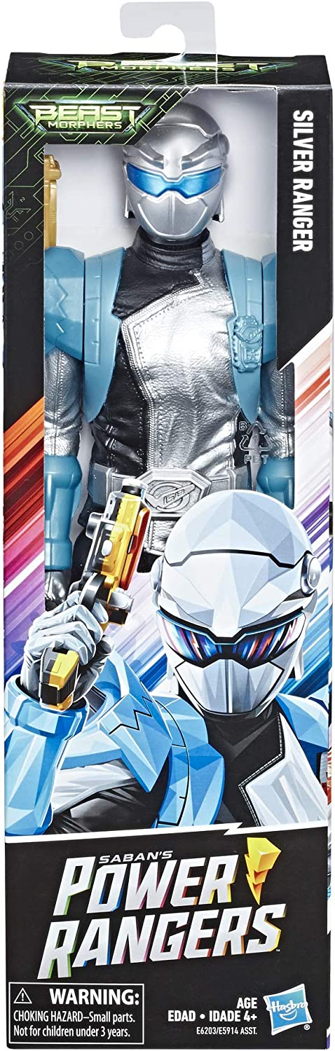 amazon com hasbro power rangers beast morphers silver ranger 12 inch action figure toy with accessory inspired by the power rangers tv show toys games hasbro power rangers beast morphers silver ranger 12 inch action figure toy with accessory inspired by the power rangers tv show