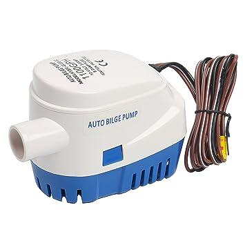 Bomba de 12 V automático sumergible 1100 GPH Bomba de agua de sentina Auto en barco con flotador switch-new (actual 3,8 A): Amazon.es: Deportes y aire libre