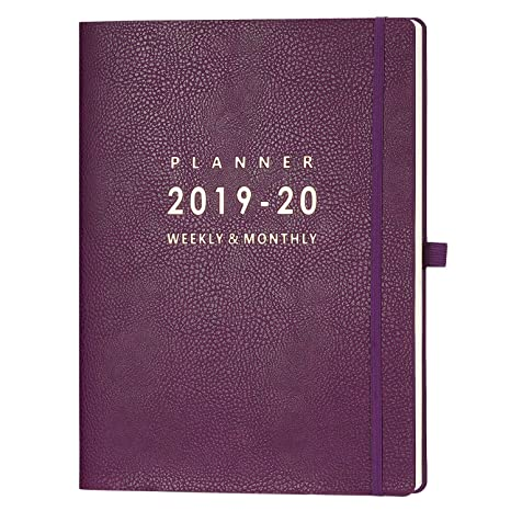 2019-2020 Planner with Pen Holder - Weekly & Monthly Planner with Calendar Stickers, July 2019 - June 2020, Inner Pocket with 24 Notes Pages, A4 ...