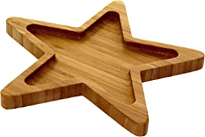 Liying Wooden Star Plate, 20 x 20 cm