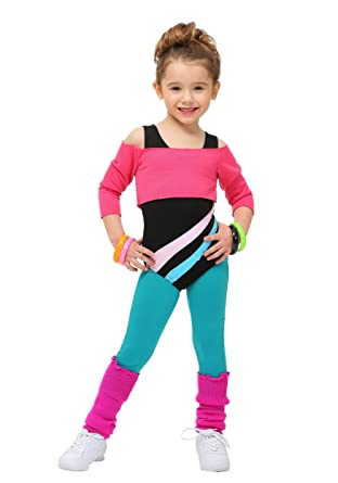Amazon Com Toddler 80 S Workout Girl Costume 18 Mo Pink Clothing