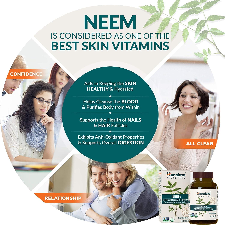 Himalaya USDA Comprimidos de Neem | Remedio para el acné y las ...