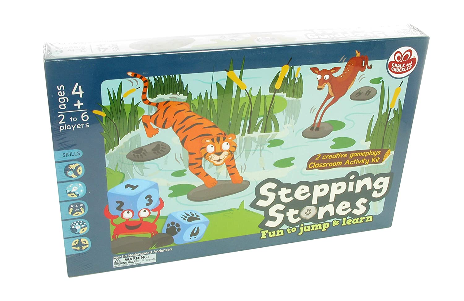 American Educational Products CC-037 Stepping Stones Activity Set 14.97 Length 1.75 Height 9.98 Wide 14.97 Length Chalk and Chuckles 1.75 Height 9.98 Wide