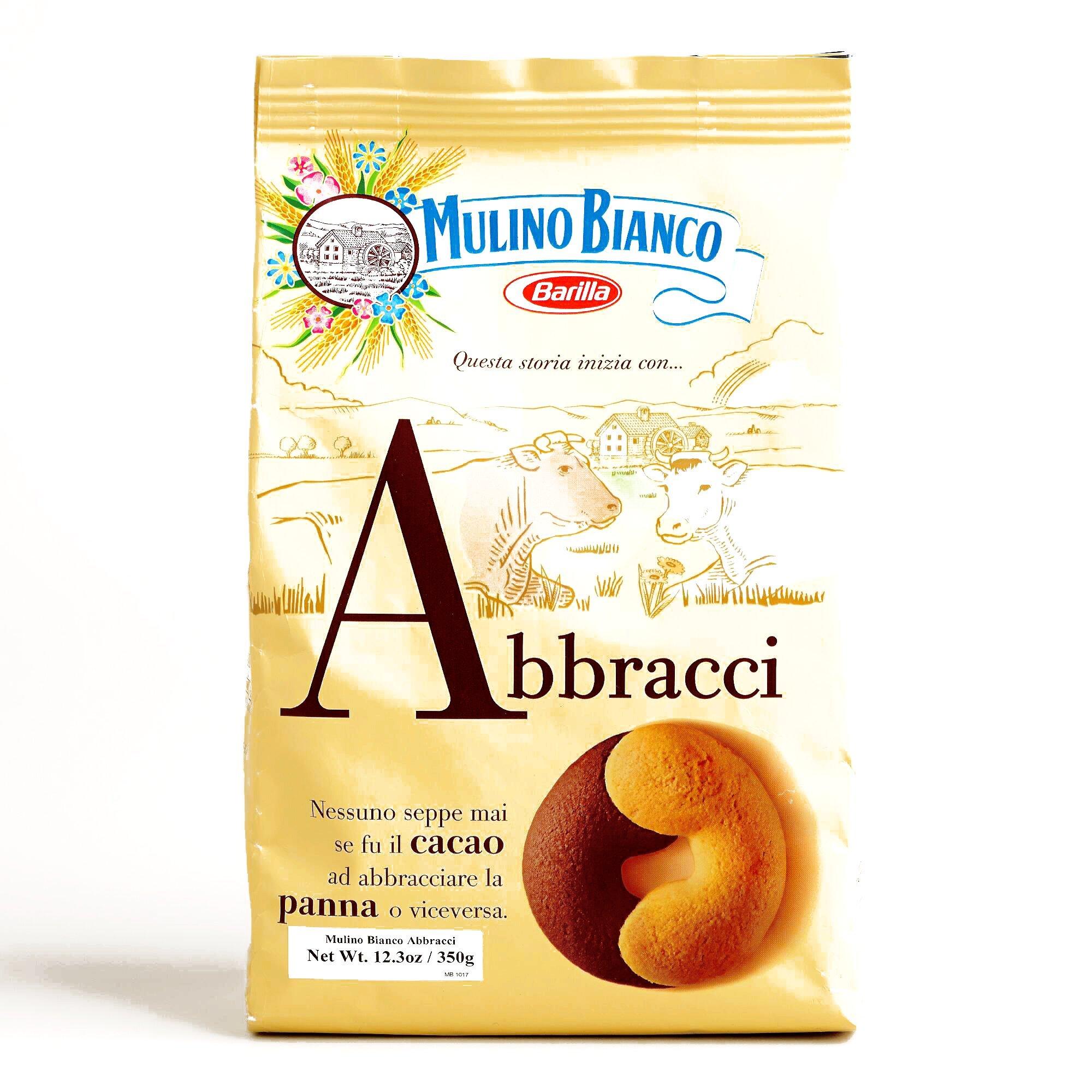 Mulino Bianco Abbracci Cookies 12.3 oz each (1 Item Per Order)