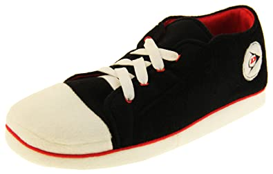 69606f6ee525 Mens Dunlop Warm Fleece Novelty Sports Trainer Slippers Size 6 7 8 9 ...