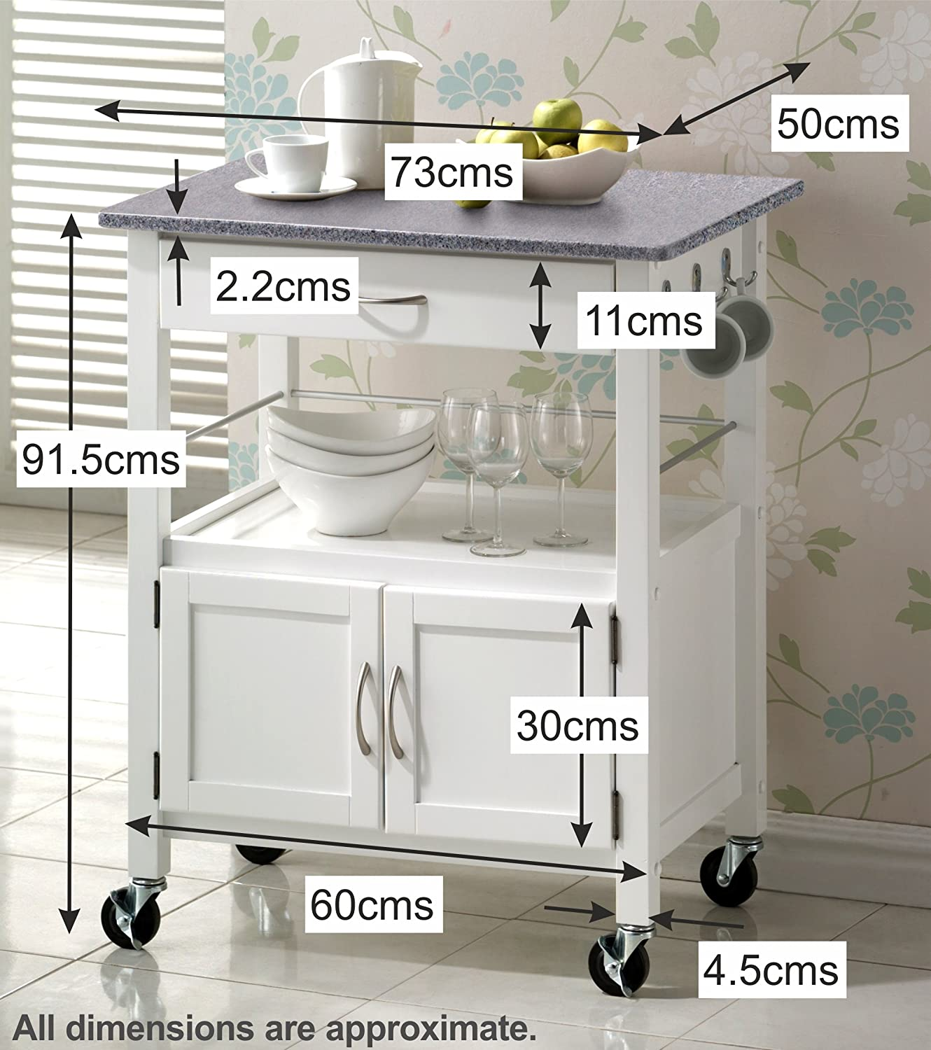 Kitchen Cart Uk. Item Sobuy Kitchen Trolley Cart With Doors Home ...