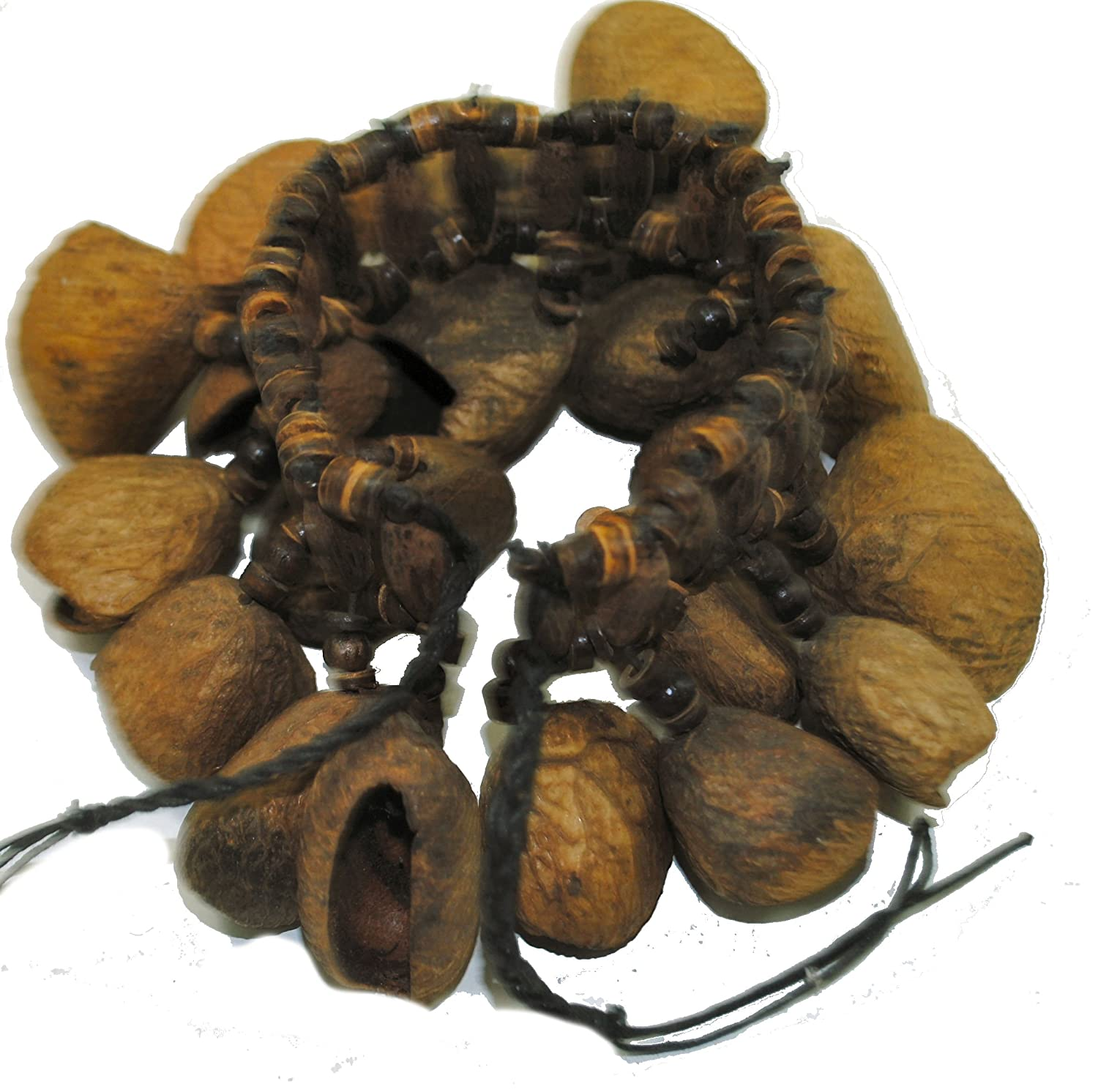 Fair Trade Andean Shaman Rattle Maraca Calabash Foot Shaker Tapar Nuts R116Foot