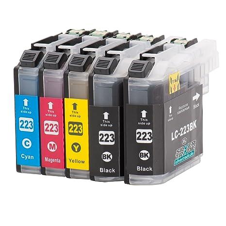 5 Cartuchos de tinta compatibles para Brother LC223XL con chip ...