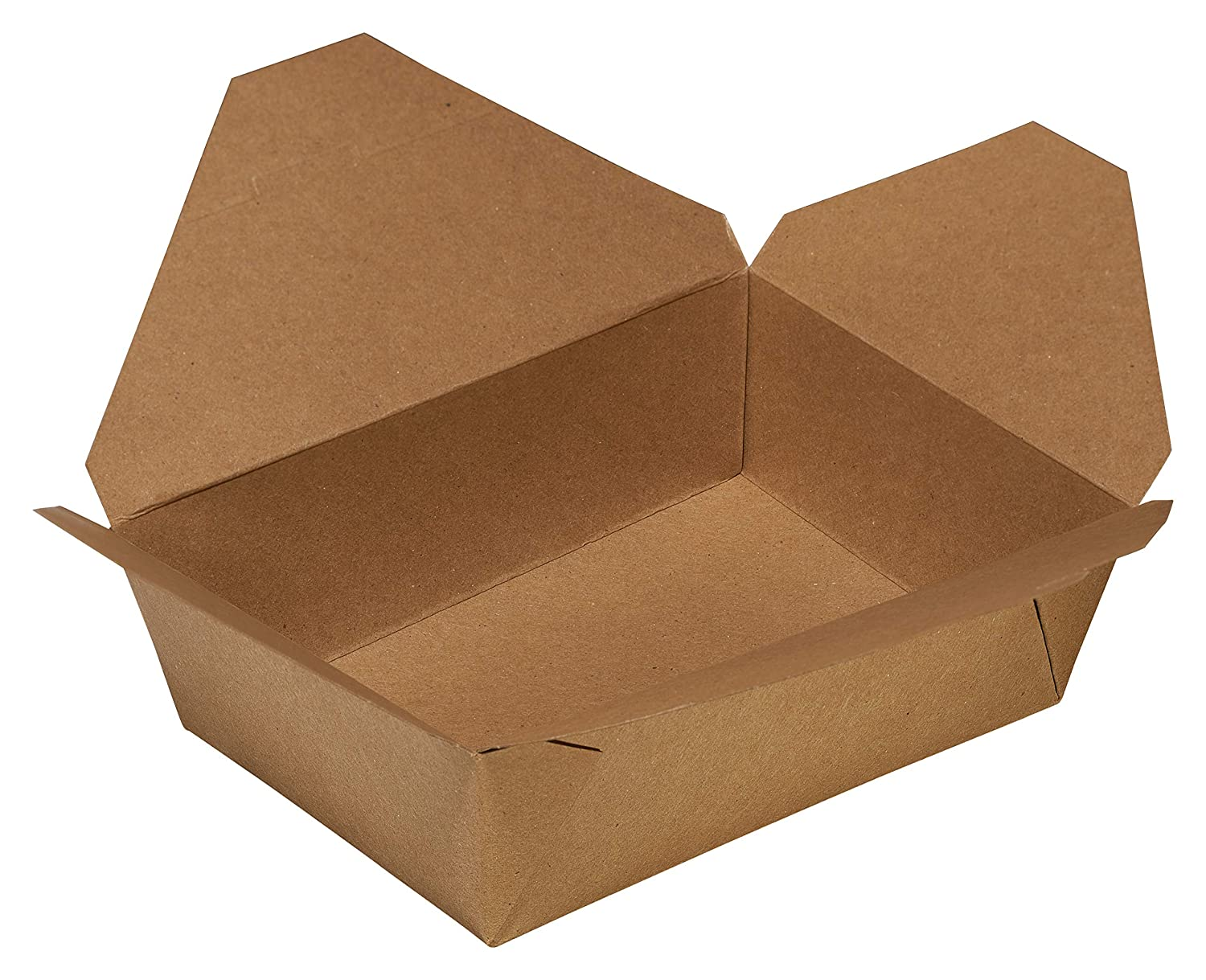 Take Out Food Containers 45 oz Kraft Brown Paper Take Out Boxes Microwaveable Leak and Grease Resistant Food Containers - To Go Containers for Restaurant, Catering, Food Truck - Recyclable Lunch Box #8 by EcoQuality (25)