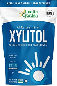 Health Garden Birch Xylitol Sweetener - Non GMO - Kosher - Made in the U.S.A. - Keto Friendly (1 LB x 2)