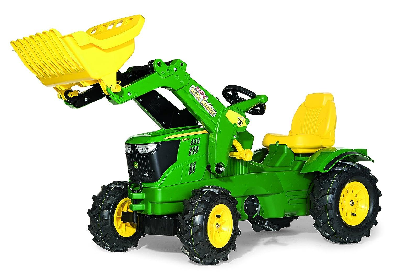 Rolly Toys John Deere Trettraktor mit Luftbereifung John Deere 6210R mit Frontlader Rolly Toys 611102 - John Deere Trettraktor