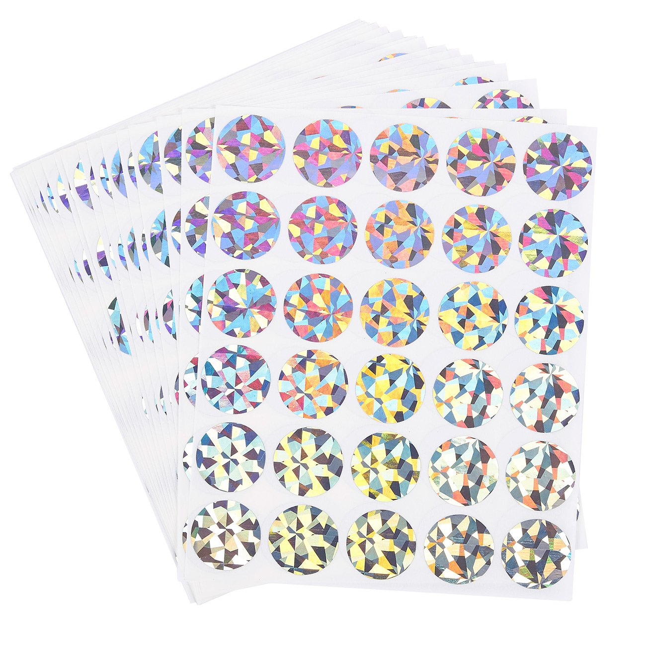 Scratch off stickers 510 pack round sticker labels self adhesive peel and stick diy circle labels for wedding games fundraisers promotions holographic