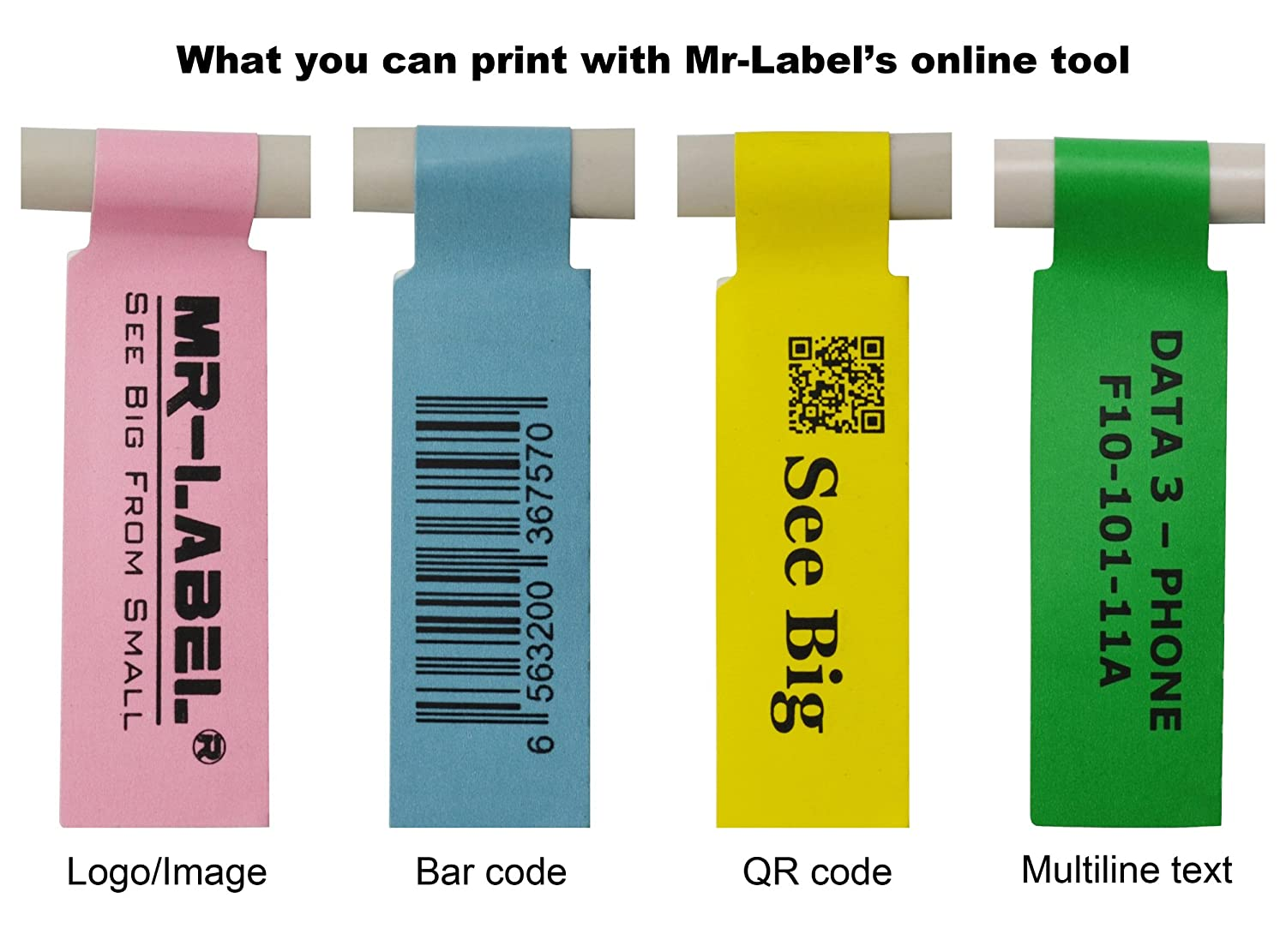 Amazon.com : Mr-Label® Self-adhesive Cable Label - Waterproof | Tear ...