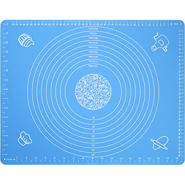 Silicone Baking Mat With Measurements 100/% Non-Stick Safe Silicone Baking Board Coop /& Co. Reusable Cooking Enthusiasts For Pastry Rolling For Chefs Heat Resistant Table Place mat LARGE SIZE