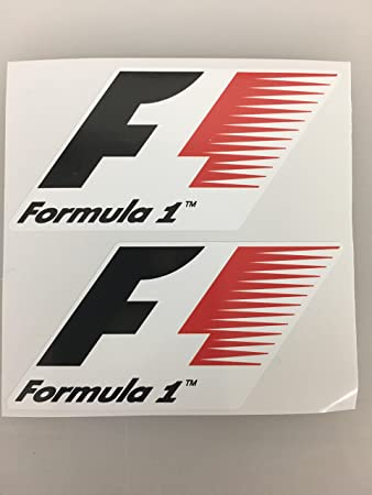 2 formula 1 f1 fia red die cut decals by sbd decals